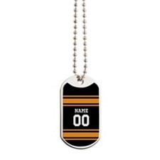Sports Jersey Black Orange Dog Tags