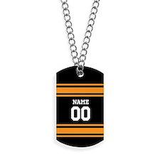 Sports Jersey Black Orange Dog Tags