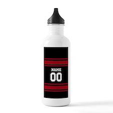 Sports Jersey Black Red Water Bottle