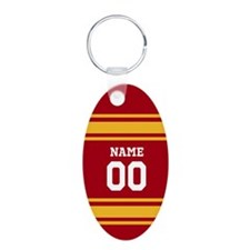 Red Gold Sports Jersey Keychains