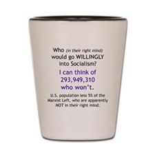 Willingly Shot Glass