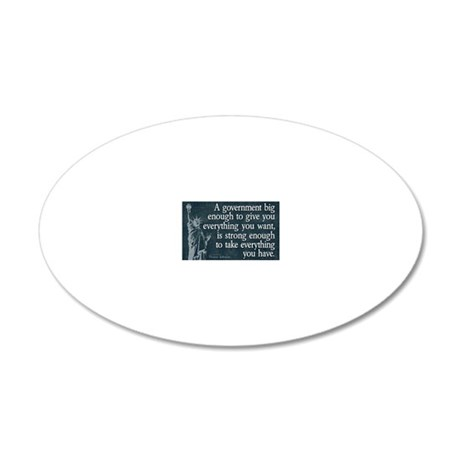 11x17_DarkFlagBigGovt 20x12 Oval Wall Decal