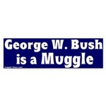 Bush is a Muggle Blue Bumper Sticker