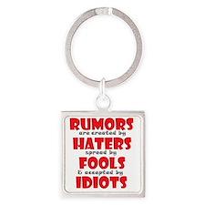 rumors Square Keychain