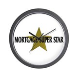 Mortgage SuperStar Wall Clock