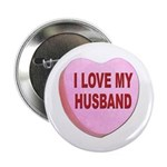 I Love My Husband Valentine Button