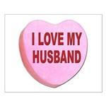 I Love My Husband Valentine Small Poster