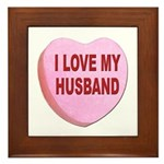 I Love My Husband Valentine Framed Tile