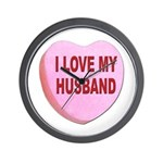 I Love My Husband Valentine Wall Clock