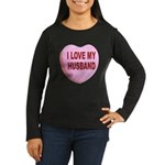 I Love My Husband Valentine (Front) Women's Long S