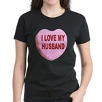 I Love My Husband Valentine (Front) Women's Dark T