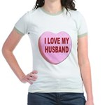 I Love My Husband Valentine (Front) Jr. Ringer T-S