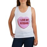 I Love My Husband Valentine Women's Tank Top
