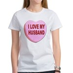 I Love My Husband Valentine (Front) Women's T-Shir