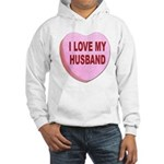 I Love My Husband Valentine (Front) Hooded Sweatsh