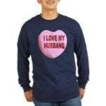 I Love My Husband Valentine (Front) Long Sleeve Da