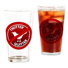 btn-twitter-quitter Drinking Glass