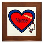 Nurse Heart Framed Tile