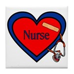 Nurse Heart Tile Coaster
