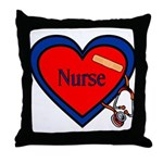 Nurse Heart Throw Pillow