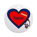 Nurse Heart Ornament (Round)