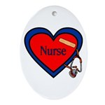 Nurse Heart Oval Ornament