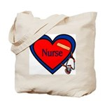 Nurse Heart Tote Bag