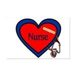 Nurse Heart Mini Poster Print