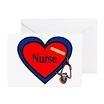 Nurse Heart Greeting Cards (Pk of 10)