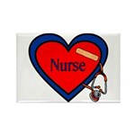Nurse Heart Rectangle Magnet (100 pack)
