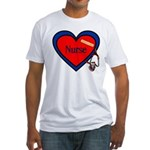 Nurse Heart Fitted T-Shirt