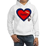 Nurse Heart Hooded Sweatshirt