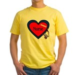Nurse Heart Yellow T-Shirt