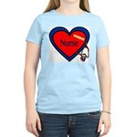Nurse Heart Women's Pink T-Shirt