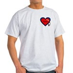 Nurse Heart Ash Grey T-Shirt