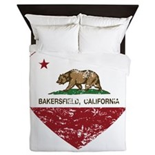 california flag bakersfield heart distressed Queen