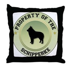 Schipperke Property Throw Pillow