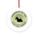 Scotty Property Ornament (Round)