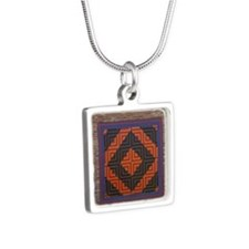 Dover Fam Pharm Tile Silver Square Necklace