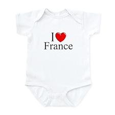 """I Love France"" Infant Bodysuit"