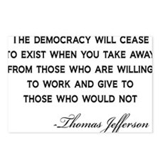 Jefferson-Democracy-(whit Postcards (Package of 8)