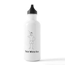 white_guy_black Water Bottle