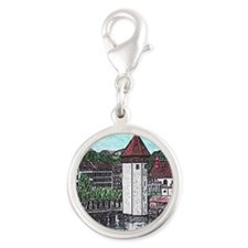 lucerne small print Silver Round Charm