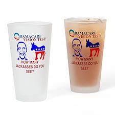 Obama Care Drinking Glass