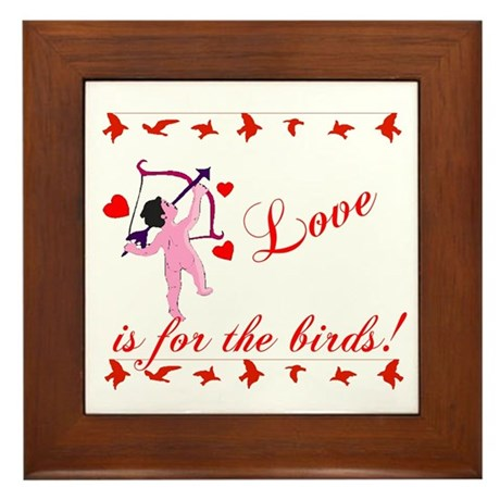 Love is for the Birds Framed Tile