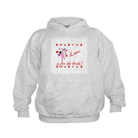 Love is for the Birds Kids Hoodie