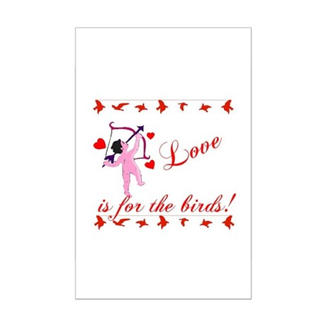 Love is for the Birds Mini Poster Print