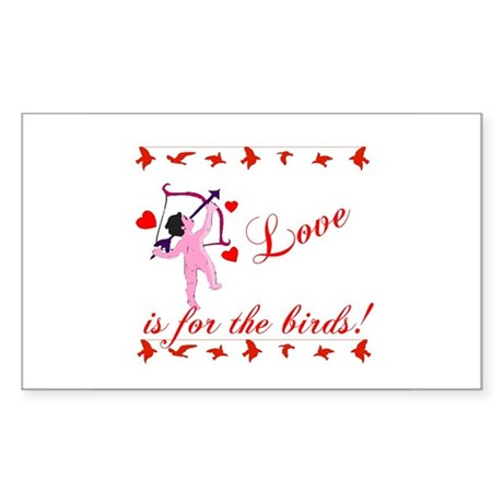 Love is for the Birds Rectangle Sticker