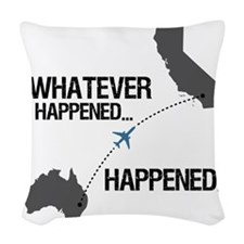 whateverhappeneddark Woven Throw Pillow
