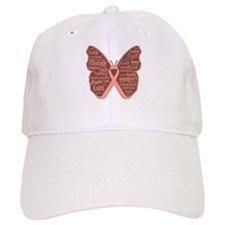 Butterfly Uterine Cancer Baseball Cap